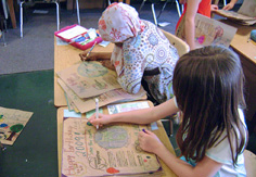 Editing in Room 12 a, Arbor Heights Elementary School, Seattle, Washington, Earth Day © mahlness 2009