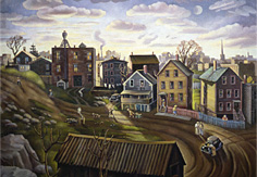 Back Street, 1940, private collection, Yvonne Twining Humber © 1940