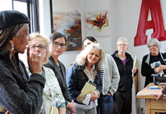 Legacy Specialists in training visit Alicia Tormey's encaustic studio, Seattle, 2013. Photo Nichole DeMent